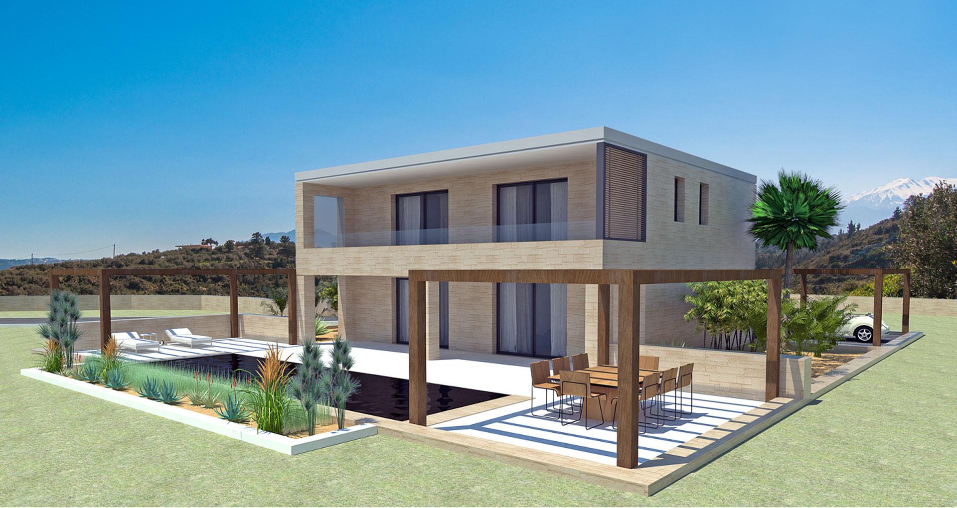 Notos Project of stone villa