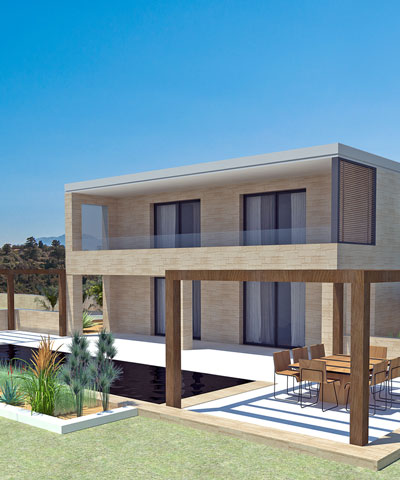 Notos Project of stone villa