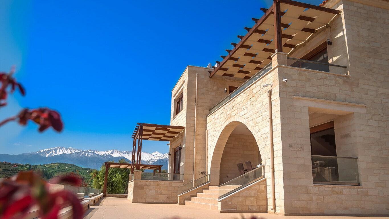 stone villa in Chania for sale- traditional style villas in Chania