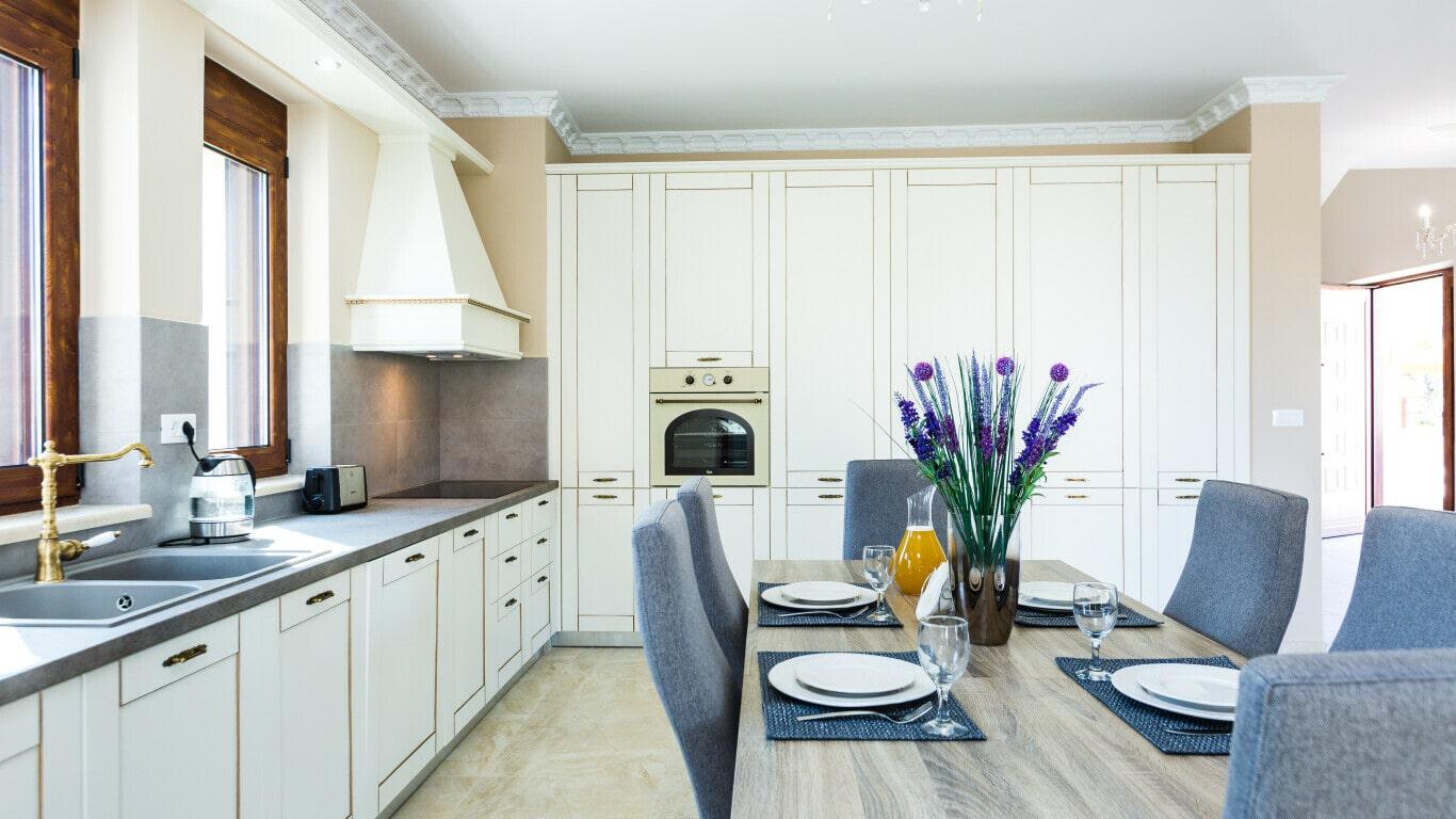 luxury kitchen villa in Chania