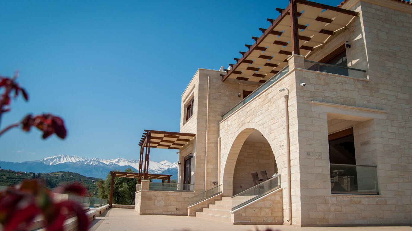 stone property traditional house out of stone - kyriakidis Construction Company