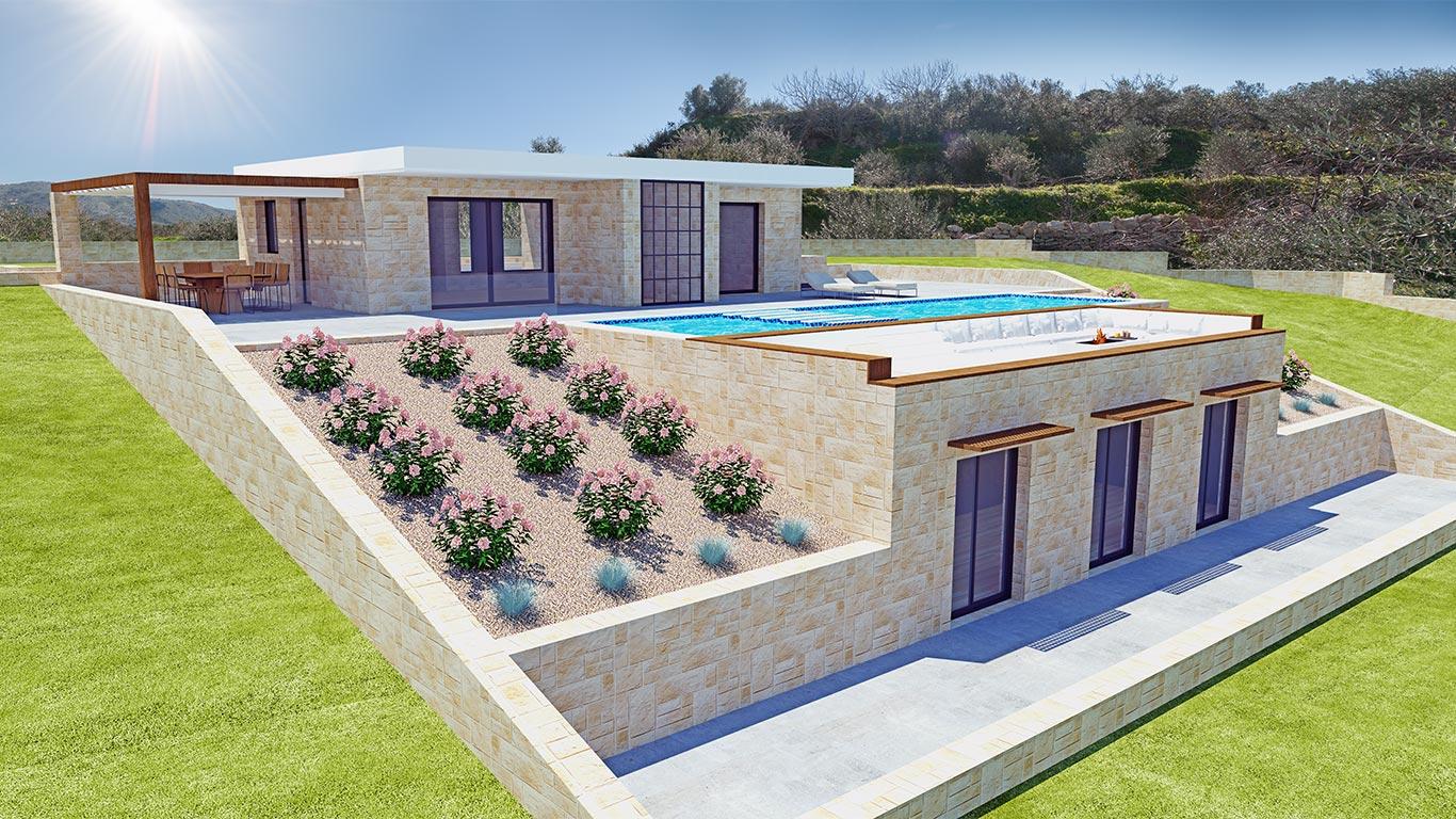 Elia Project of stone villa