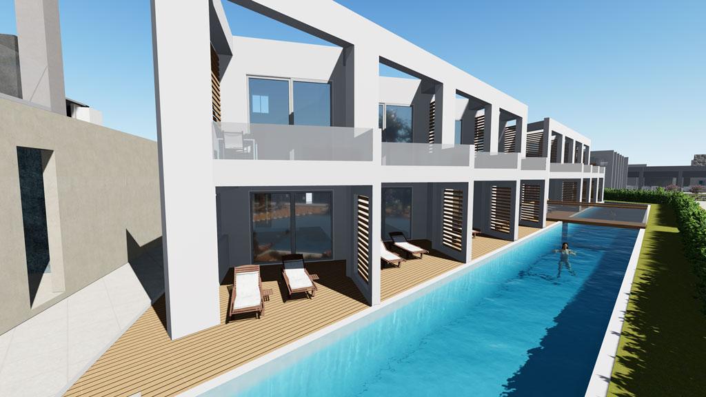 swimming pool area- gerani beach resort by kyriakidis construction