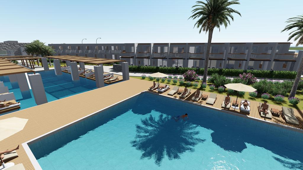 gerani beach resort- swimming pool area