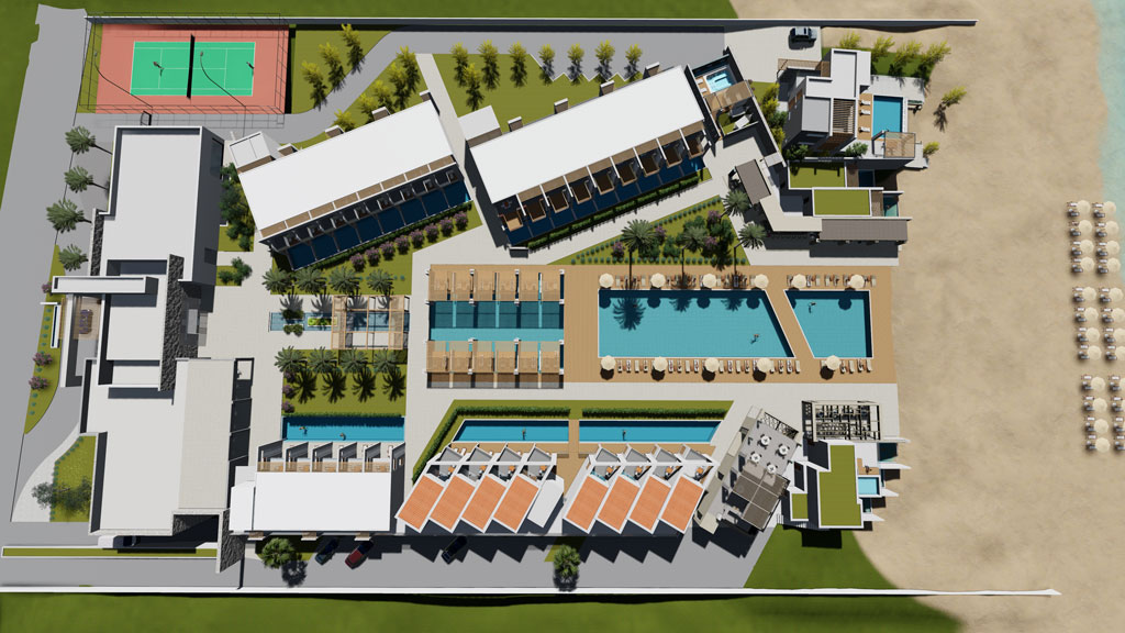 Gerani beach resort- top view- resorts for sale in Crete