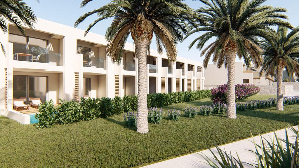 Gerani Beach Resort for sale in Chania, Crete, Greece- garden view