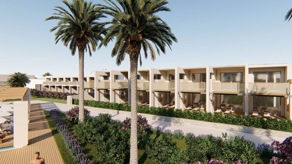 Gerani hotel for sale in Crete by Kyriakidis Construction Company