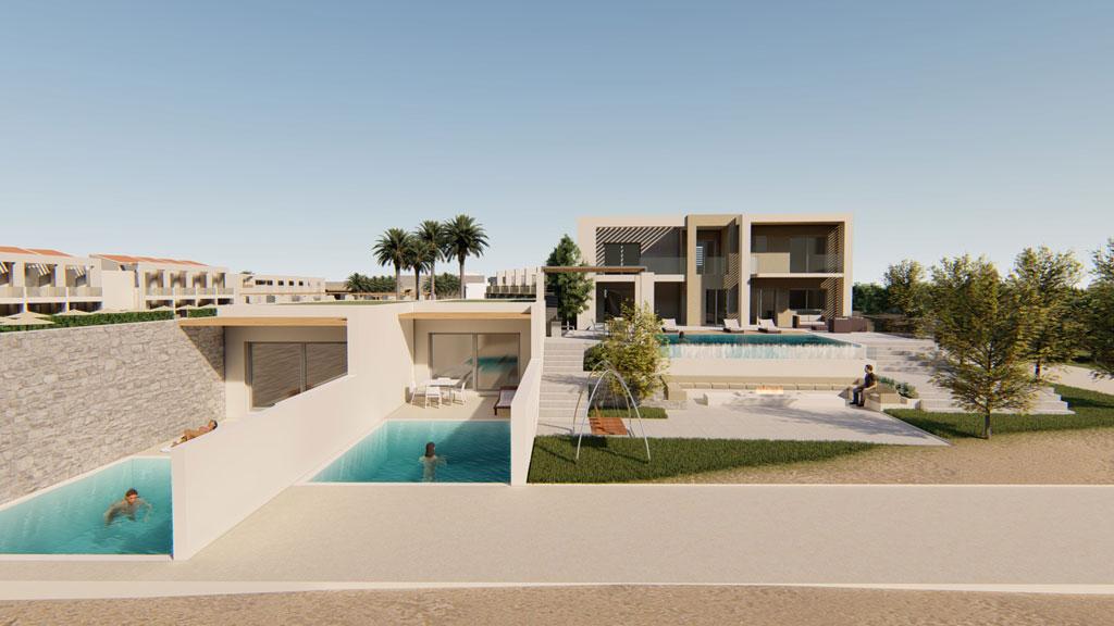 Gerani Beach Resort and spa for sale in Greece - swimming pool