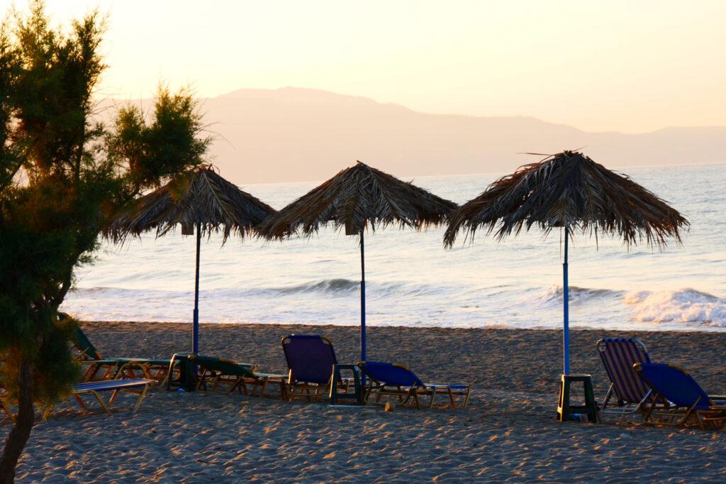 Gerani beach Chania Crete, Greece- Sunbeds