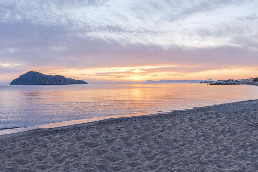 Thodorou island view from Gerani Beach