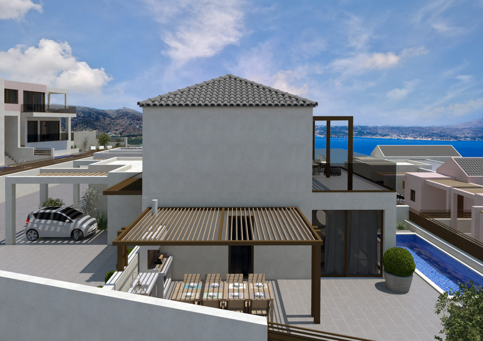 complex and villa for sale in Chania- Kalives