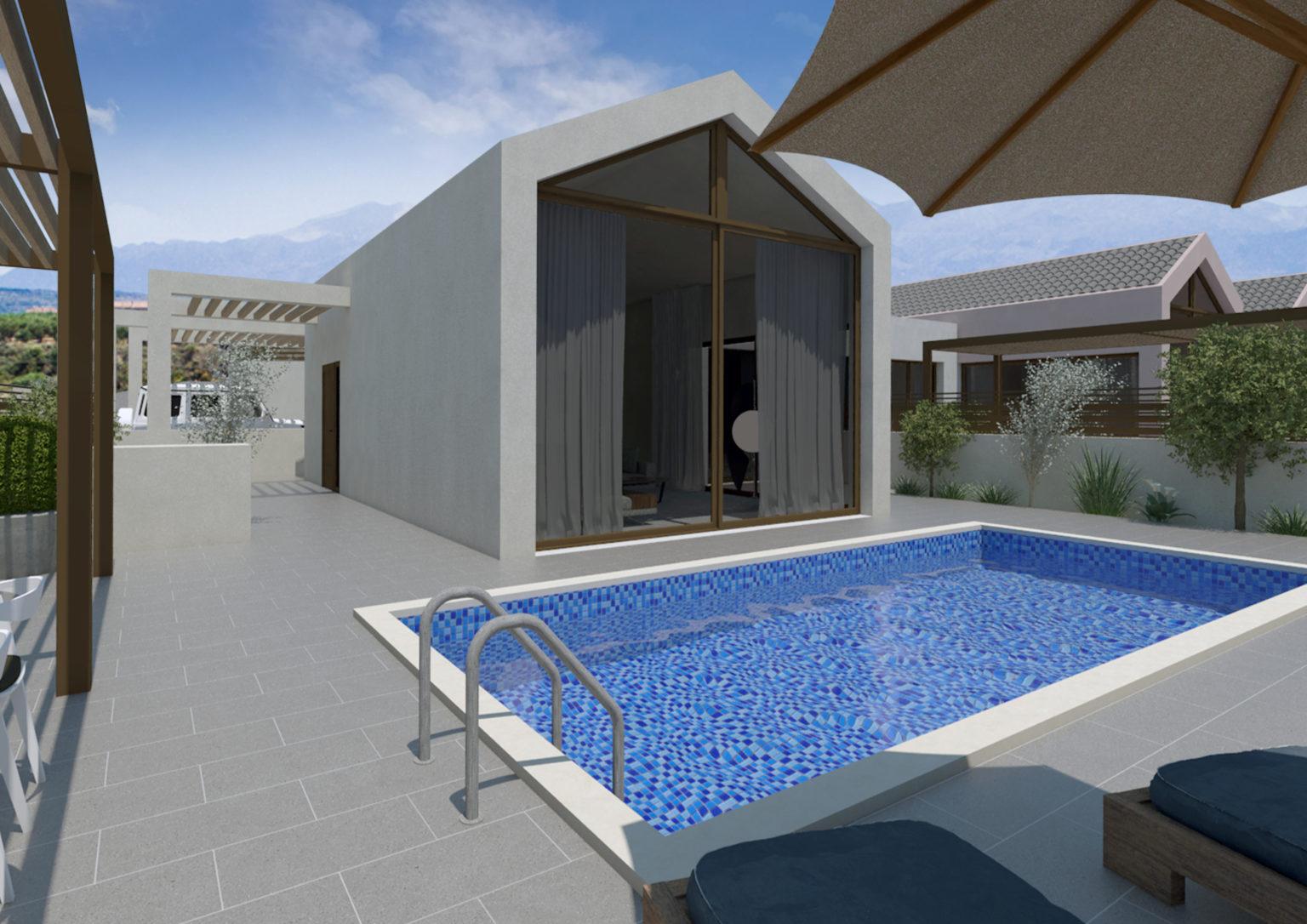 villa complex for sale swimming pool