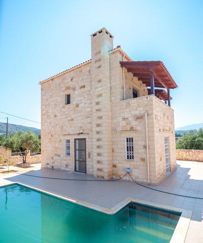 Βίλες στην Κρήτη- Πέτρινη Βίλα -Πέτρινες κατοικίες- Κατασκευαστική Κυριακίδης Χανιά