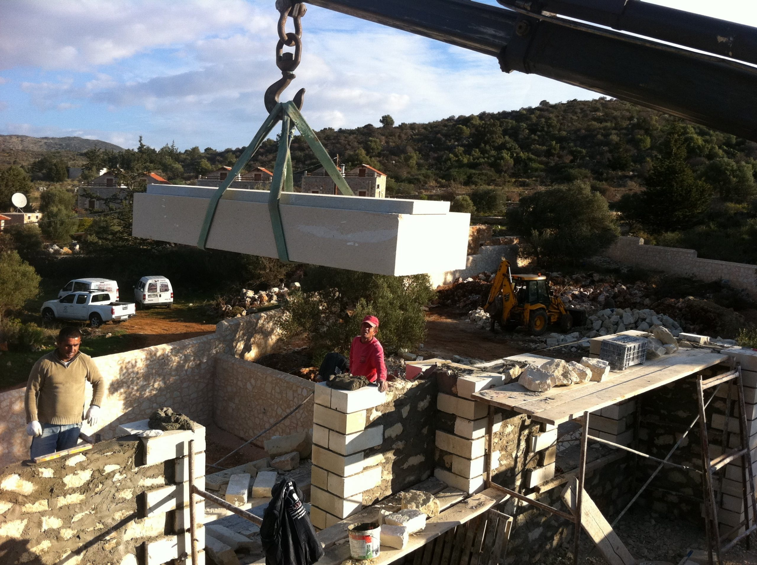 Marble Constructions in Crete- VIllas and homes with marble