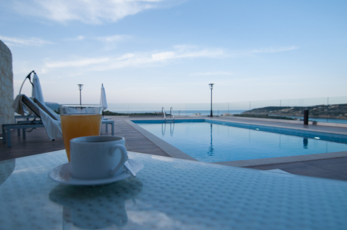 villas in Crete- Swimming pool area- Kyriakidis Building Company