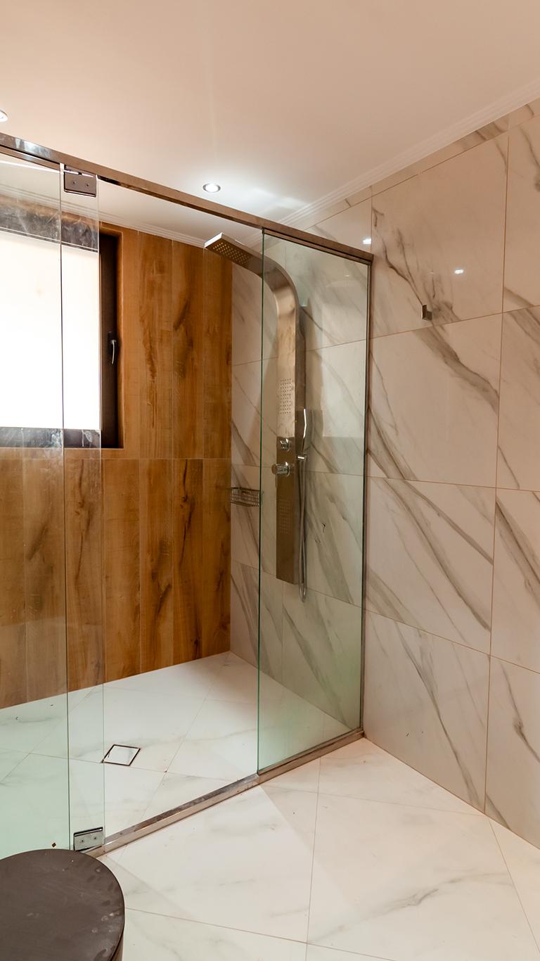 luxury villas in Greece- Bathroom Cabin- kyriakidis construction